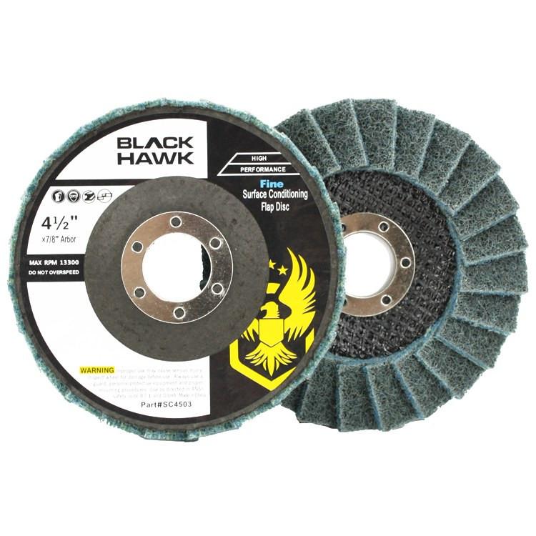 Black Hawk Abrasives Surface Conditioning Flap Disc - Blue