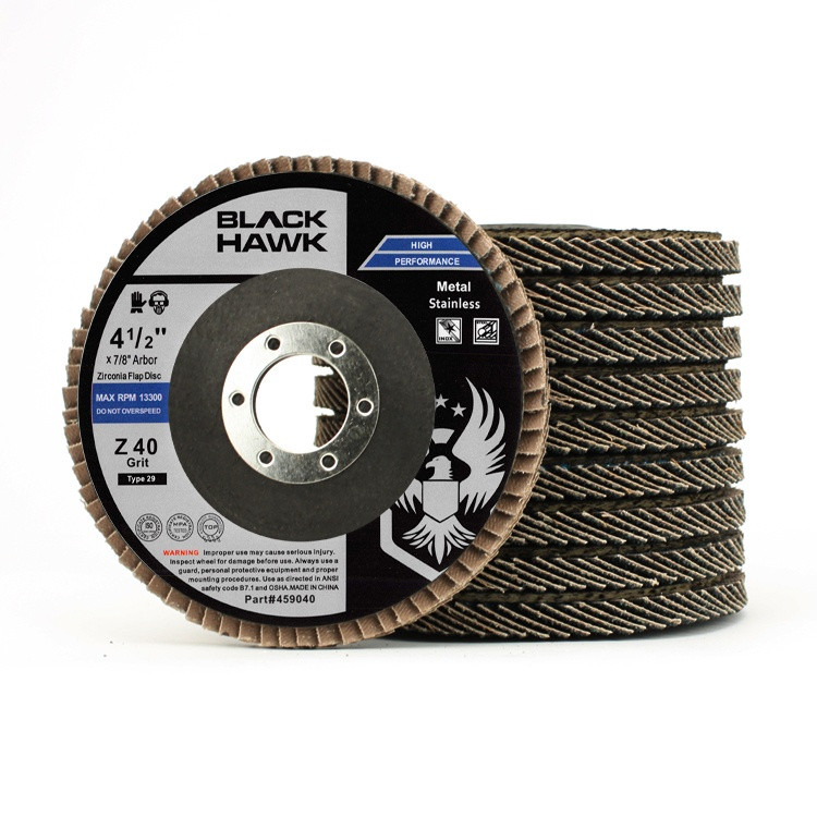 "4.5"" Black Hawk Zirconia Flap Disc 10 Pack"