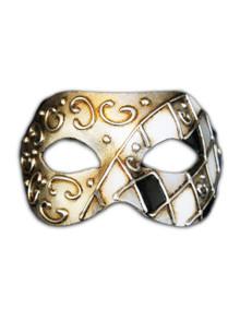 Venetian mask Colombina Mezza Rombi