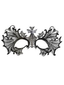 Venetian mask Colombina Metallo Ragnatela