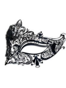 Venetian mask Colombina Metallo Ira