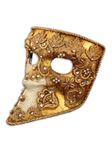 Venetian mask Bauta Mac Craquele