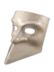 Authentic Venetian mask Bauta Craquele