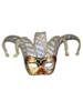 Venetian mask Colombina Jolly Musica