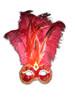 Venetian feathered mask Colombina Foga