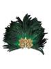 Venetian feathered mask Colombina Baroque Reale