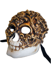 Venetian mask Teschio Baroque