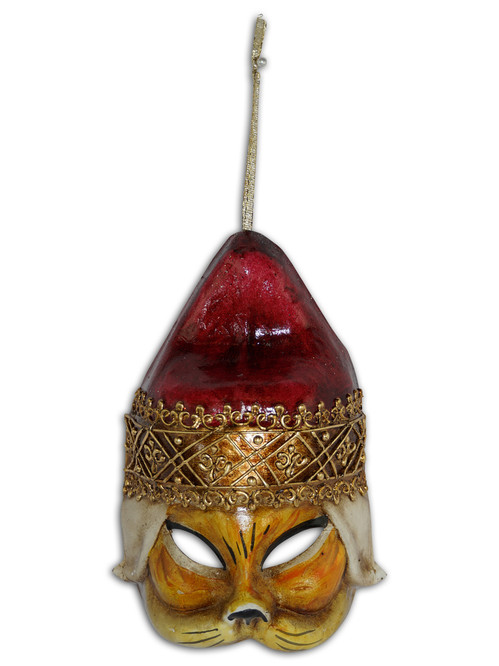 Venetian Mini Mask Ornament Gatto Doge