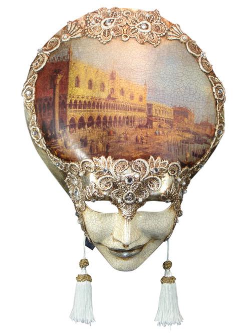 Authentic Venetian mask Liberty Veneziano Mac Craquele