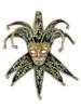 Venetian paper mache mask Jolly Velutto Lux