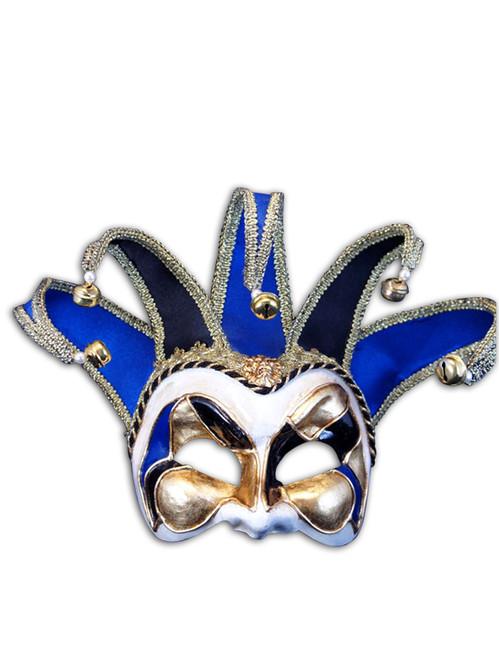 Venetian mask Jester Mezo Velutto