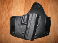 GLOCK IWB standard hybrid leather\Kydex Holster (fixed retention)