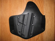 RUGER IWB standard hybrid leather\Kydex Holster (fixed retention)