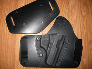 Bersa IWB/OWB combo Kydex/Leather Hybrid Holster with adjustable retention