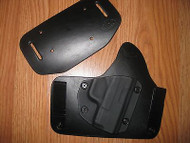 Diamondback IWB/OWB combo Kydex/Leather Hybrid Holster with adjustable retention