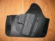 Glock IWB Kydex/Leather Hybrid Holster with adjustable retention