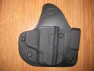 IWB Kydex/Leather Hybrid Holster appendix carry with adjustable retention
