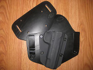 Ruger IWB/OWB combo Kydex/Leather Hybrid Holster with adjustable retention