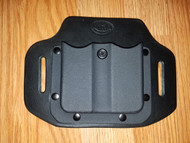 OWB Hybrid adjustable retention Kydex/Leather Double Magazine Carrier