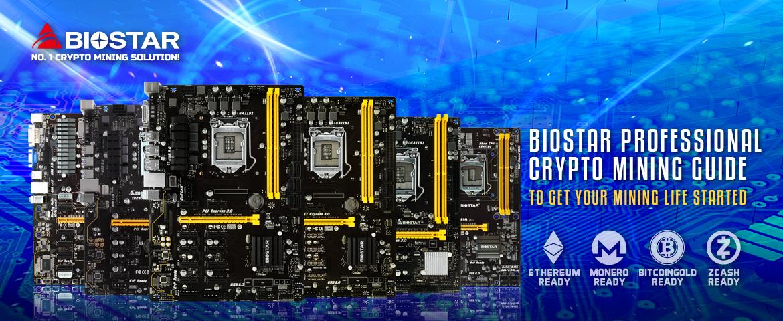 ิBiostar crypto mining with blue background
