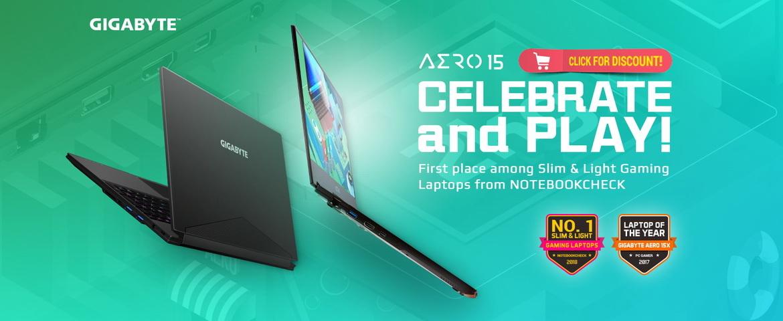 Gigabyte Aero 15 laptop windows 10 bazel gaming notebook
