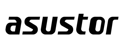 Asustor logo in black with white background