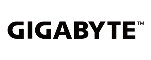 Gigabyte logo in Black with white background