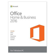 Microsoft T5D-02375 Office 2016 Home and Business Windows English PC Key Card