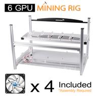 AAAwave 6 GPU Mining Case + 4 Arctic F12 Silent Fans / Ethereum Zcash Litecoin
