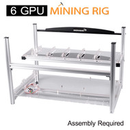 AAAwave 6 GPU Mining Rig Frame - Stackable Open Frame design with Fan mounts