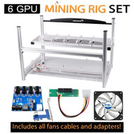 AAAwave 6 GPU Mining Case + 4 Arctic F12 TC Fans / Ethereum Zcash Litecoin + Dual Power Supply Rig