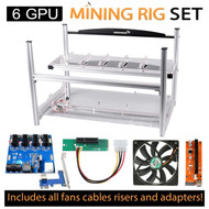 AAAwave mining set - Case + 4 x Scythe SY1225DB12H + 6 PCI-E Version 007+ Dual Power Supply Rig