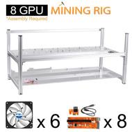 AAAwave Mining Case 8 GPU+FAN ARCTIC F12 TC Cooling AFACO-120T0-GBA01 by ARCTIC x6 + PCI RISER X 8