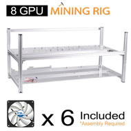 AAAwave 8 GPU open frame mining rig case set - Case + 6 x Artic fan TC Cooling AFACO-120T0-GBA01