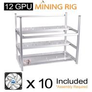 AAAwave Mining Case 12 GPU+FAN ARCTIC F12 TC Cooling AFACO-120T0-GBA01 by ARCTIC x 10