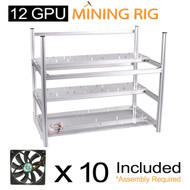 AAAwave Mining Case 12 GPU+FAN SCYTHE SY1225DB12H Stream 120DB 120mm Case Fan 1600 RPMTIC x 10 …