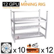 AAAwave Mining Case 12 GPU+FAN ARCTIC F12 TC Cooling AFACO-120T0-GBA01 by ARCTIC x 10 + PCI RISER x 12