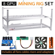 AAAwave Mining Case 8 GPU+FAN SCYTHE SY1225DB12H Stream 120DB 120mm Case Fan 1600 RPMTICx6 + PCI RISER X 8+ Dual Power Supply Rig …