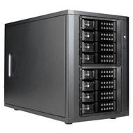 iStarUSA DAGE840DEBK-2MS 8Bay 3.5-Inch SAS SATAIII miniSAS Tower Black