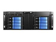 iStarUSA D410-DE8BL-225T 8-Bay Stylish Hot Swap Trayless Slim Odd Storage Server Rack Mount - Blue