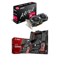 SPECIAL BUNDLE! MSI Intel Z270 DDR4 VR Ready 9 pci-e for mining  and MSI RX 570 8GB GDDR5 GAMING 256-Bit DirectX 12 GPU