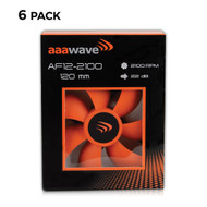 Set of 6 - AAAwave 120mm Double ball bearing Silent Cooling Fan, CPU Cooler, Water-Cooling Radiator and Case