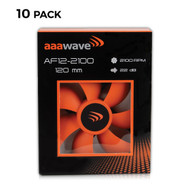 Set of 10 - AAAwave 120mm Double ball bearing Silent Cooling Fan, CPU Cooler, Water-Cooling Radiator and Case