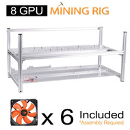 AAAwave 8 GPU open frame mining rig case set - Case + 6 x AAAwave 2100 rpm fan