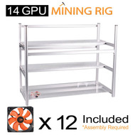 AAAwave 14 GPU open frame mining rig case set - Case + 12 x AAAwave 2100 rpm fan