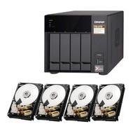 Special bundle - Qnap TS-473-4G-US 4-bay NAS/iSCSI IP-SAN + Pack of 4 - HGST 0S04007 Deskstar NAS 3.5-Inch 6TB Internal Hard Drive