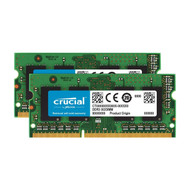 Crucial CT2KIT102464BF16GB Kit (8GBx2) DDR3/DDR3L 1600 MT/S (PC3-12800) Unbuffered SODIMM 204-Pin Memory