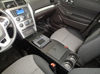 """C-VS-2400-INUT-1, 2013-2016 Ford Police Interceptor Utility Vehicle Specific 24"""" Console"""