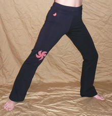Style #6120 Yoga-Dance Pant w/Moon flower