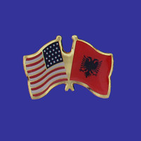 Albania/USA Flag Pin